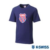 K-SWISS Heritage T-Shirt印花短袖T恤-女-藍