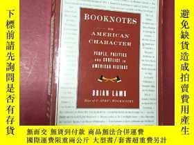 二手書博民逛書店booknotes罕見on american character