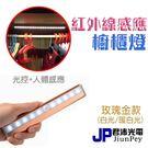 紅外線感應+ 光控 led衣櫃感應燈 櫥櫃燈 LED燈管  衣櫥照明 玫瑰金款 ( 白光/暖白光 )PWD002