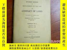 二手書博民逛書店CONFLICT罕見OF LAWS PAMPHLET MO.1Y