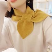 韓版針織毛線小圍巾女冬季脖套冬晚晚同款領巾護頸圍脖百搭裝飾 限時熱賣