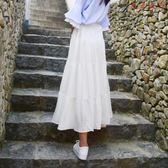 雪紡半身裙女網紗裙中長款A字裙