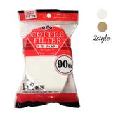 【日本MARUKI】德國製咖啡濾紙270枚/90枚3包_原木色/白色白色90枚3包