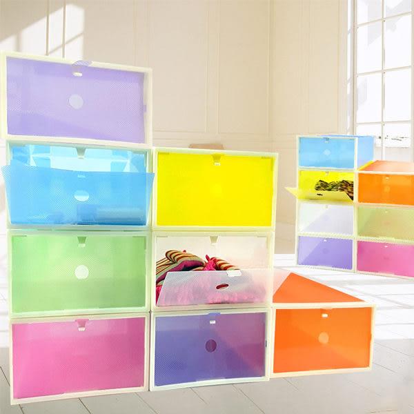 鞋盒    彩色 ABS硬框掀蓋式收納鞋盒 收納鞋盒 文具收納 鞋子整理 居家收納 【SPA008】-收納女王