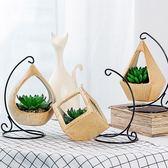 北歐ins創意多肉擺件仿真綠植盆栽盆景微景觀裝飾假植物酒櫃擺設  igo 居家物語