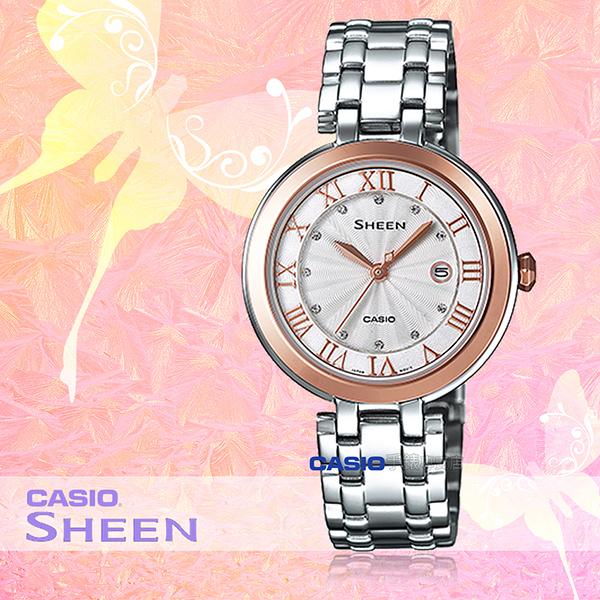 CASIO 卡西歐 手錶專賣店 SHE-4033SG-7A 女錶 不鏽鋼錶帶 日期顯示 玫瑰金 防水
