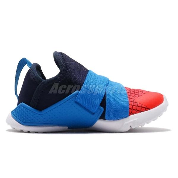 Nike 休閒鞋 Huarache Extreme Now TD 藍 橘 綁帶設計 低筒 童鞋 小童鞋 武士鞋【ACS】 BQ7570-400