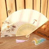 蘇扇真絲古風扇子折扇女式中國風折扇 全館免運