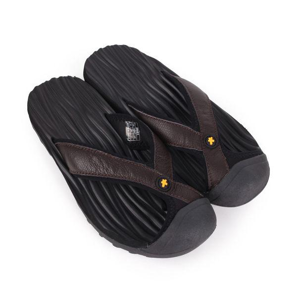 SOFO 男護指夾腳拖鞋-游泳 戲水 海邊 海灘 沙灘 黑
