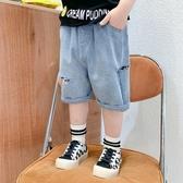 男童牛仔短褲童裝夏季兒童薄款純棉五分褲外穿寶寶韓版休閒褲子潮 快速出貨