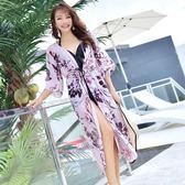 泳衣女三件套韓版溫泉小香風性感罩衫顯瘦遮肚度假比基尼游泳衣均一價599中秋節促銷