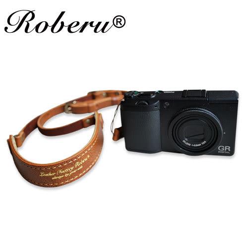 輕皮革 相機背帶 細繩 【日本ROBERU】 適微單眼/輕便相機