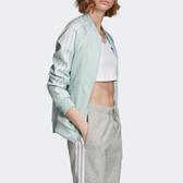 J- adidas SST Originals Jacke 青蘋果綠 淡綠 三線 三葉草 休閒 運動 透氣 舒適 女ED7590