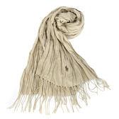 RALPH LAUREN POLO 小馬LOGO素面披肩圍巾(米色)780909-2
