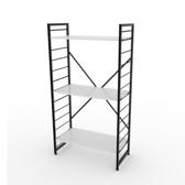 (組)特力屋萊特三層架黑框/白板-80x40x158cm