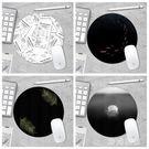 原創設計鼠標墊錦鯉水母可愛女男生圓形加厚小號辦公游戲簡約電腦 ys7238『時尚玩家』