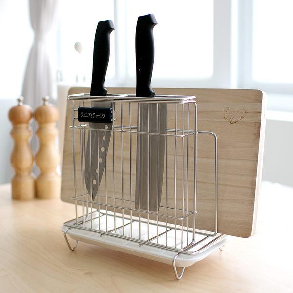 瀝水架 菜刀架 廚房收納【D0030】不鏽鋼刀具砧板架(白美奈盤) MIT台灣製完美主義