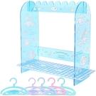 小禮堂 大耳狗 造型透明口罩收納架 壓克力口罩掛架 口罩架 口罩盒 (藍 衣架) 4550337-56118
