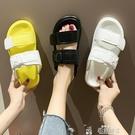 厚底拖鞋夏季網紅同款運動ins潮可濕水涼拖鞋女外穿時尚女士厚底特賣