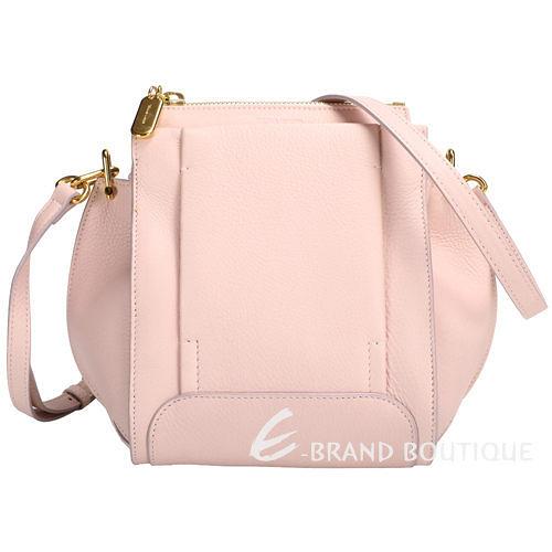 [ NG大放送 ]SONIA RYKIEL EDGAR ZIPPED 粉色拼接設計斜背包 1490030-05