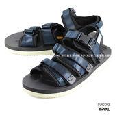 SUICOKE 新竹皇家 GGA 052V 黑/深藍色 平帶 涼鞋 耐磨 魔鬼氈 男款 NO.A8668