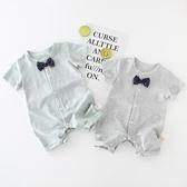 全館83折夏季英倫風紳士純棉嬰兒禮服新生兒衣服男寶寶連體衣短袖夏裝薄款