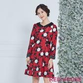 【RED HOUSE 蕾赫斯】玫瑰蝴蝶結洋裝(共兩色)