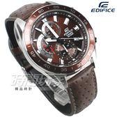 EDIFICE EFV-550L-5A 公司貨 三眼計時碼錶設計 賽車錶 男錶 咖啡 皮帶 EFV-550L-5AVUDF CASIO卡西歐