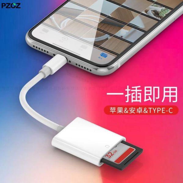蘋果手機SD相機讀卡器OTG線高速USB3.0記憶卡iPhone轉接頭ipad安卓typec 智聯