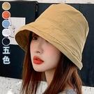 遮陽素色防曬漁夫帽(5色)【995182W】【現+預】-流行前線-