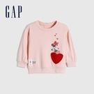 Gap嬰兒 Gap x Disney 迪士尼系列可愛印花圓領休閒上衣 650019-淡粉色