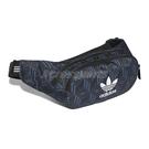 adidas 斜背包 Monogram Waist Bag 黑 藍 男女款 側背包 運動休閒 【ACS】 FM1347