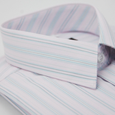 【金‧安德森】粉色緹花短袖襯衫