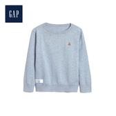 Gap男幼童小熊圖案圓領長袖針織衫474380-淺藍色
