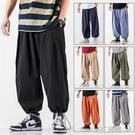 燈籠褲男夏季薄款寬鬆日系束腳褲胖子潮流加肥加大碼闊腿休閒褲子 3C優購