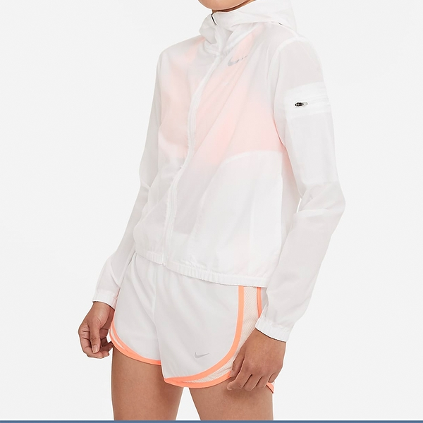 Nike AS W Imp Lght JKT 女 白 慢跑 訓練 連帽外套 CZ9541-100