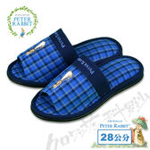 【クロワッサン科羅沙】Peter Rabbit  雙色井格素邊布拖鞋 (藍色28CM)