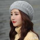 貝雷帽女英倫復古日系秋冬季八角帽潮百搭羊毛線帽子女韓版 PA11309『棉花糖伊人』