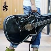 LS萊森菲利38--41寸半透明加厚吉他背包民謠古典吉他男女通用 設計師生活 NMS