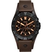 FOSSIL Garrett 美式運動計時手錶-棕/44mm FS5626