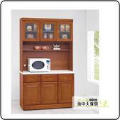 {{ 海中天休閒傢俱廣場 }} G-02 摩登時尚 餐櫃系列 338-1 艾德里樟木色4尺石面碗櫃組