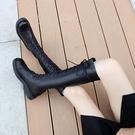 2020新款彈力靴長筒靴子冬季皮靴高筒不...
