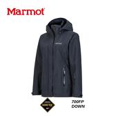【速捷戶外】美國 Marmot 土撥鼠 35570  女Goretex 兩件式(內層羽絨外套)防水透氣外套(黑),防水外套