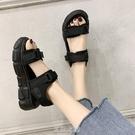 老爹運動涼鞋女夏季2020新款百搭松糕厚...
