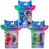 【睡衣小英雄 PJmasks】3吋可動英雄與叛逆角色人偶二合一組(多款可選) PJ24810