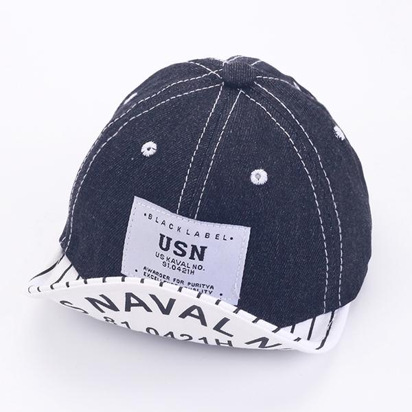 嬰幼兒棒球帽 丹寧牛仔帽 寶寶帽 鴨舌帽 遮陽帽 防曬 翻邊帽 DL23825 好娃娃