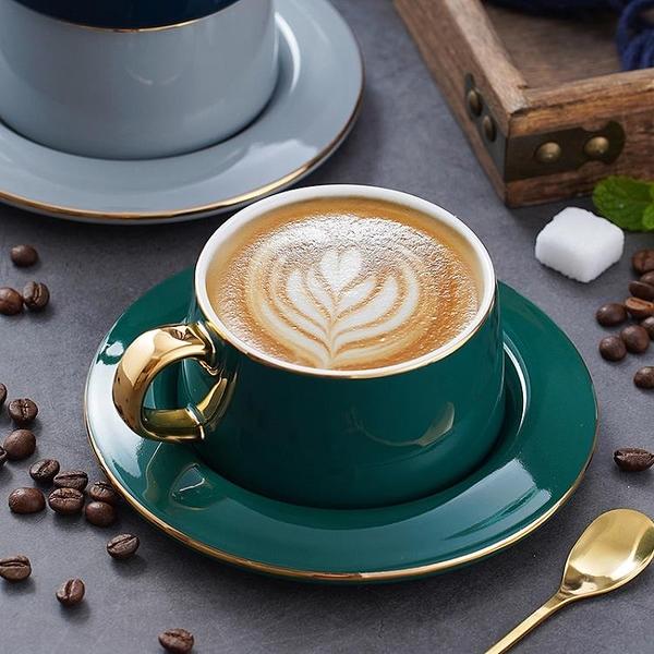 英式陶瓷咖啡杯碟送勺家用小奢華情侶下午茶杯【輕奢時代】
