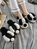 情侶棉拖鞋女室內家用可愛厚底毛絨家居拖鞋女冬一對秋冬季棉拖男  極有家