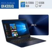 福利品ASUS/UX430UQ(皇家藍/玫瑰金)/14FHD/i5-7200U/8G/512G SSD/NV940MX 2G/W10