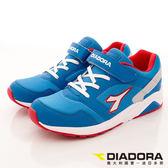 【DIADORA】義大利國寶童鞋-3E舒適流行跑鞋-DA7AKC3966-藍色-大童段-(預購)